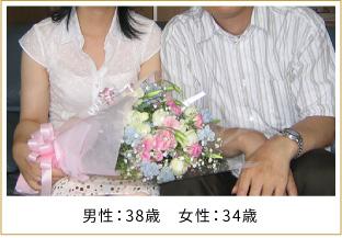 2007年ご成婚 男性36歳 女性29歳