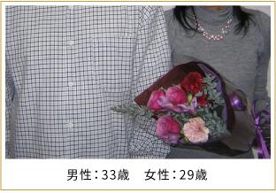 2007年ご成婚 男性39歳 女性30歳