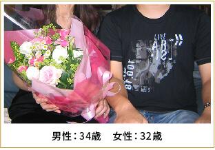 2008年ご成婚 男性34歳 女性32歳