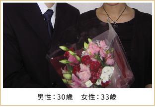 2008年ご成婚 男性36歳 女性27歳