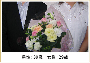 2008年ご成婚 男性37歳 女性33歳