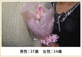 2008年ご成婚 男性40歳 女性38歳