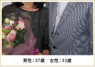 2008年ご成婚 男性39歳 女性29歳
