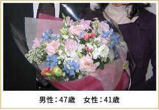 2008年ご成婚 男性47歳 女性41歳