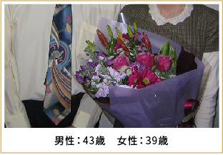 2008年ご成婚 男性43歳 女性39歳
