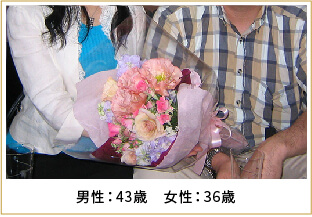 2008年ご成婚 男性43歳 女性36歳