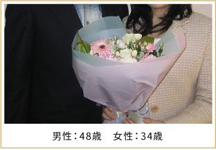 2008年ご成婚 男性48歳 女性34歳