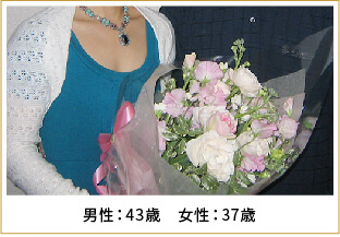 2008年ご成婚 男性43歳 女性37歳
