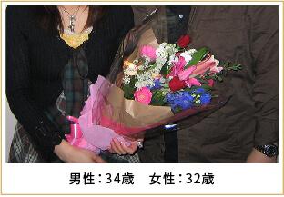 2009年ご成婚 男性34歳 女性32歳