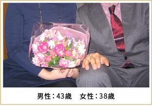 2011年ご成婚 男性38歳 女性34歳