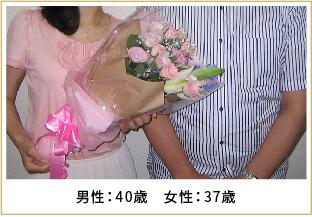 2012年ご成婚 男性40歳 女性37歳