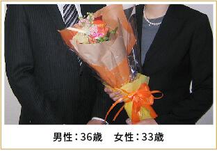 2012年ご成婚 男性36歳 女性33歳