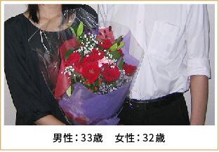 2012年ご成婚 男性33歳 女性32歳