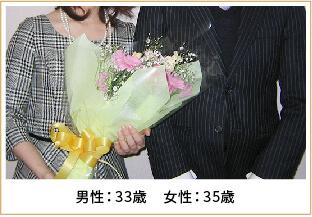 2013年ご成婚 男性43歳 女性35歳