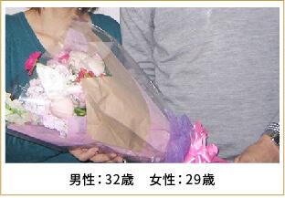 2013年ご成婚 男性40歳 女性35歳