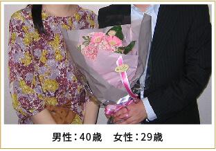 2013年ご成婚 男性39歳 女性38歳