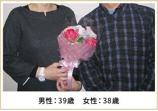 2013年ご成婚 男性38歳 女性35歳