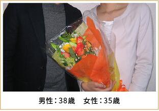 2013年ご成婚 男性38歳 女性30歳
