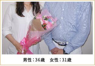 2014年ご成婚 男性35歳 女性31歳
