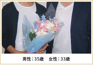 2014年ご成婚 男性35歳 女性33歳