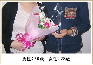 2014年ご成婚 男性30歳 女性28歳