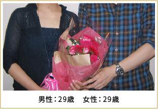 2014年ご成婚 男性29歳 女性29歳