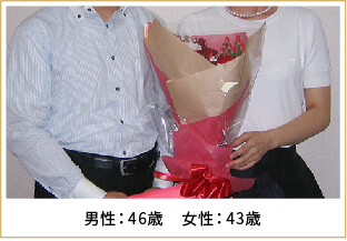 2015年ご成婚 男性46歳 女性33歳